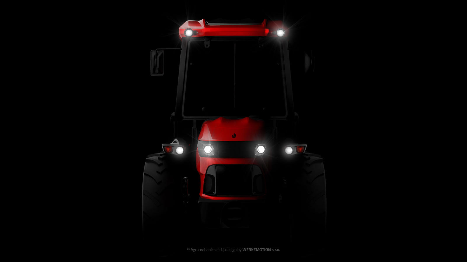 Teaser of new Agromehanika tractor design by WERKEMOTION