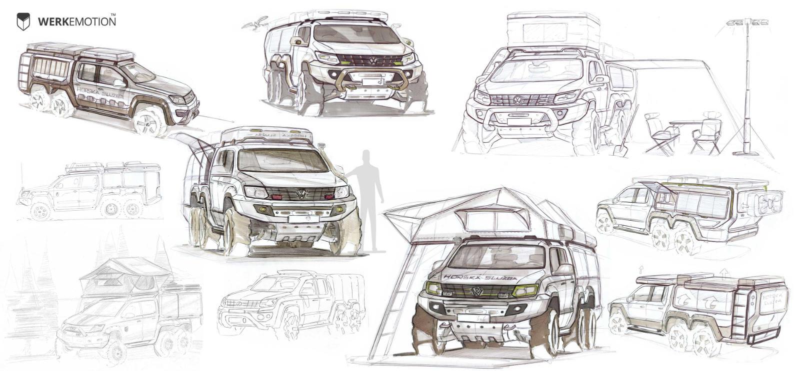 VW Amarok 6x6 - Firefighter and Rescue service special vehicle - Design by WERKEMOTION design stuido