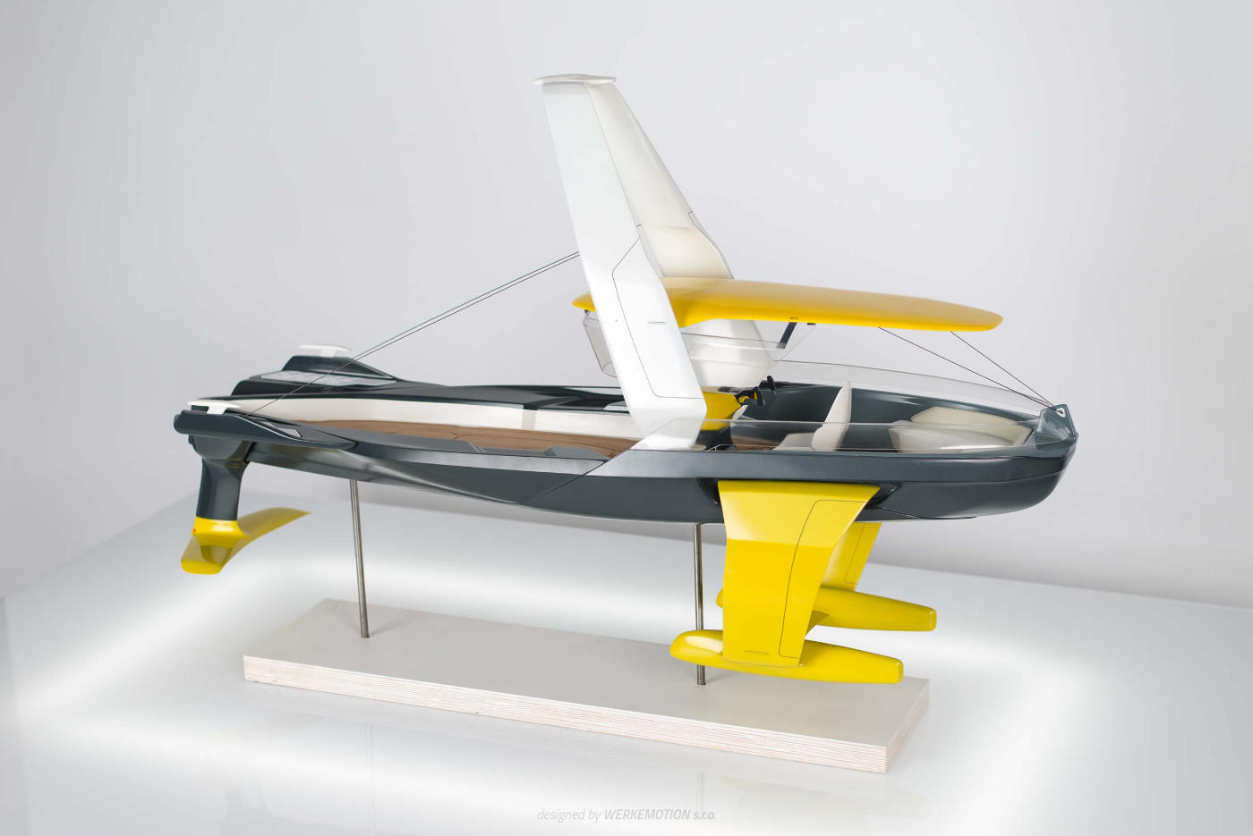STRIDER - Hydrofoil concept - Naval design by WERKEMOTION design studio