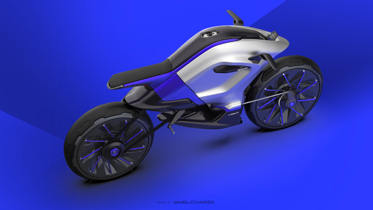 URBAQ - The motorcycle of the Future - Concept by MMelicharek