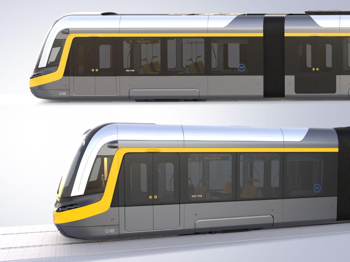 Metro de Porto - Streetcar design by WERKEMOTION
