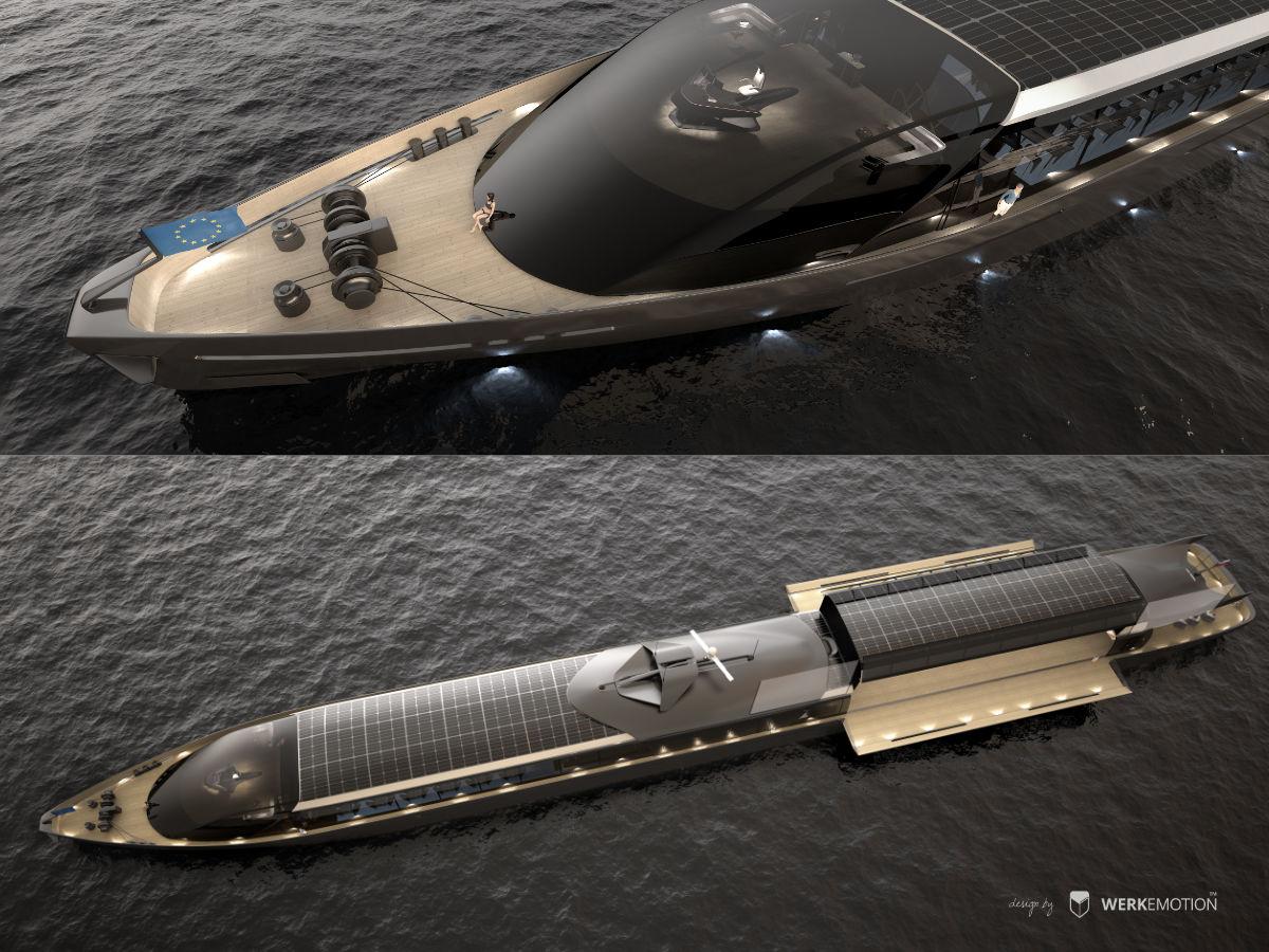 River boat - Ferdinand de Marteningo - Naval design by WERKEMOTION
