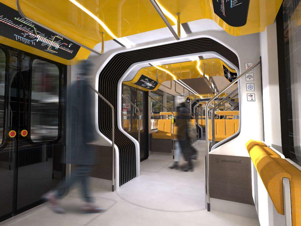 Streetcar interior design