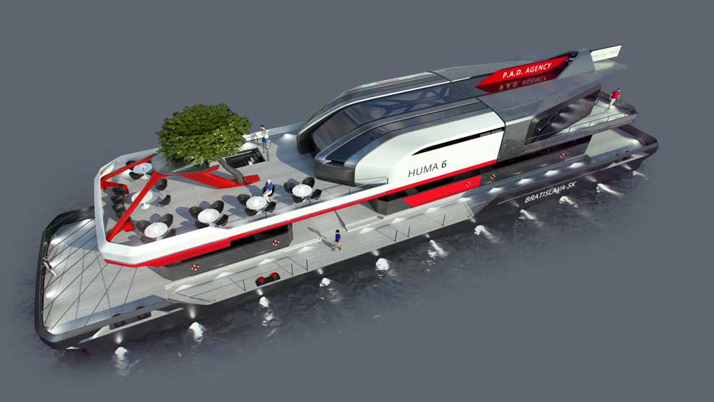 Naval design - Floating Pier Huma 6 design by WERKEMOTION
