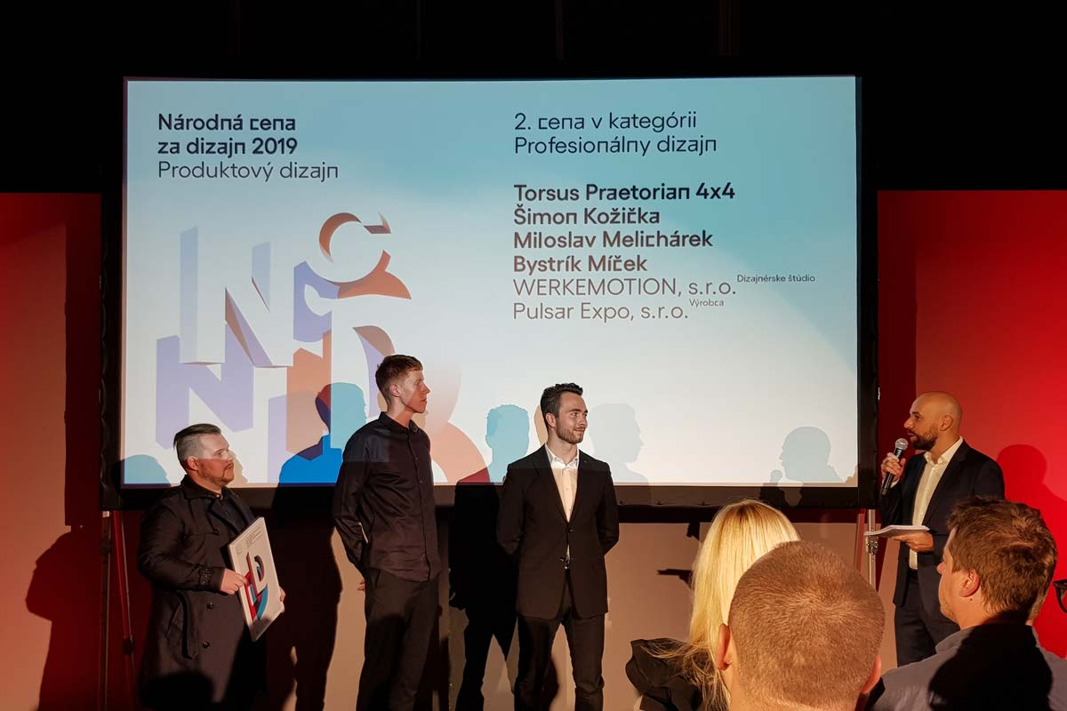 We have been awarded the Slovak National Product Design Award