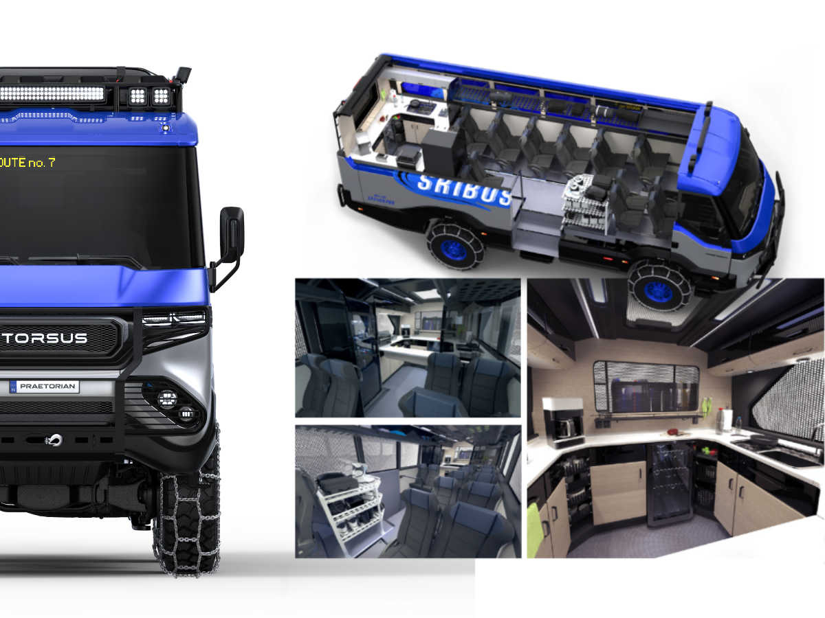 TORSUS Praetorian Ski bus configuration - design by WERKEMOTION